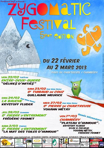 Affiche Zygomatic Festival 2013 - photo - 400x567