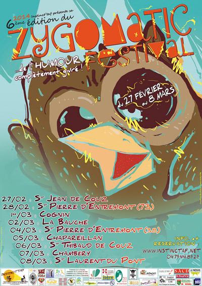 Affiche Zygomatic Festival 2014