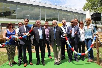 Inauguration am nagements piscine de buisson rond photo for Piscine de buisson rond