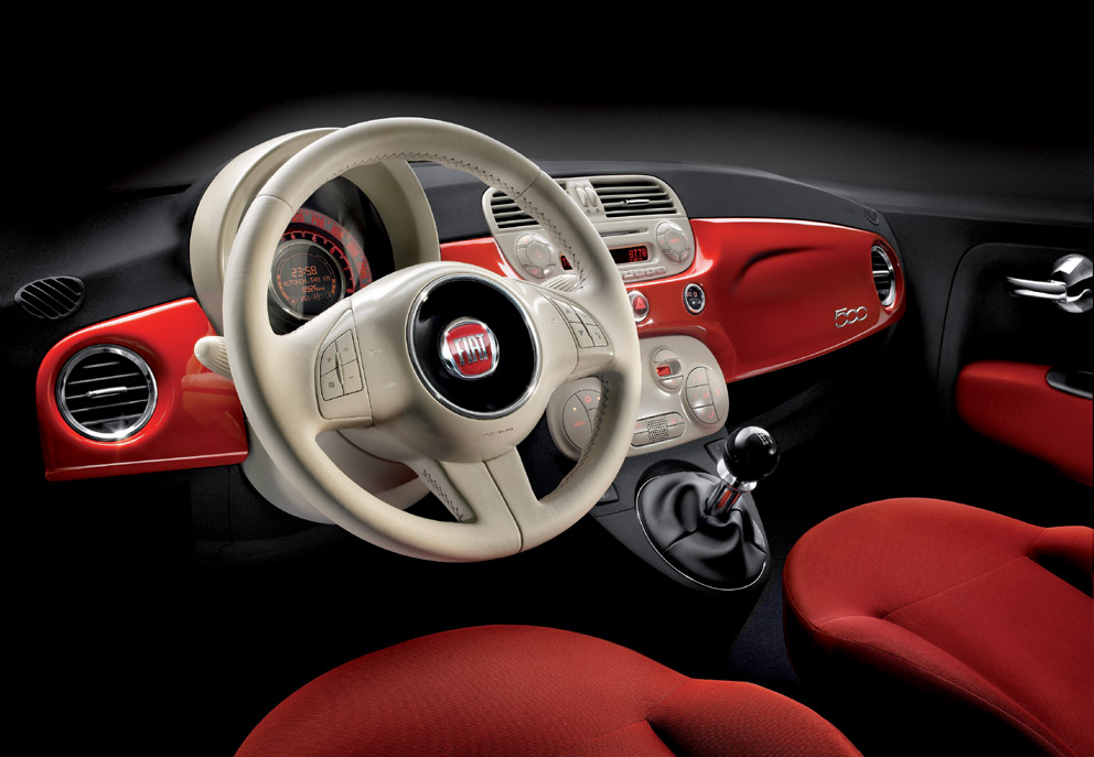 Int rieur de la fiat 500 photo 992x687 for Fiat 500 interieur