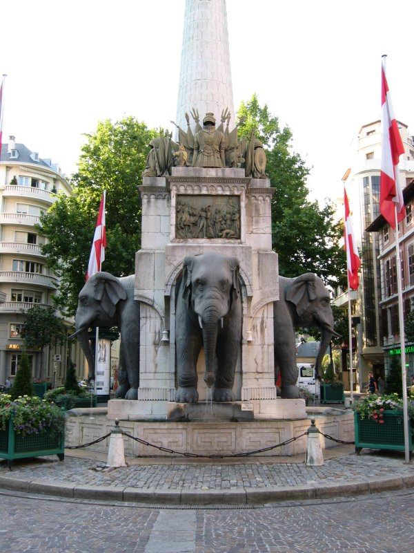 fontaine des elephants - Photo