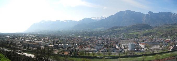 Panorama d'Albertville depuis Conflans © 123 Savoie