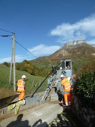 Visite du chantier ERDF Bauges