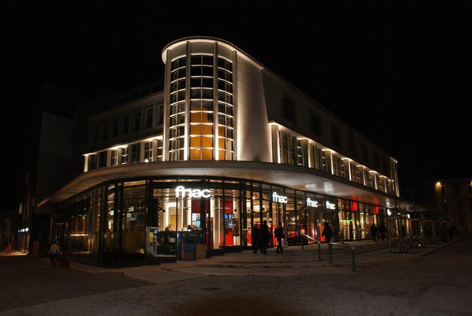 Nouvelles Halles de Chambéry, de nuit © 123 Savoie