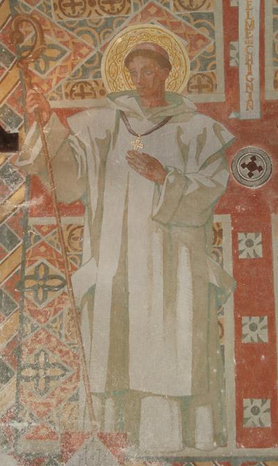 Saint Anthelme, peinture murale église N.D. de Myans © 123 Savoie