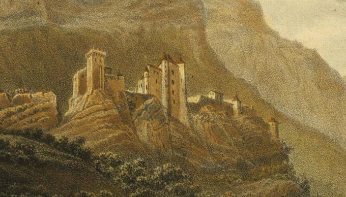 peinture du château de Miolans