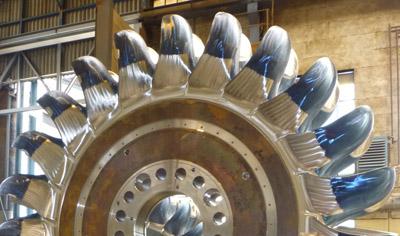 Nouvelle roue Pelton pour le groupe de production de la Bâthie © EDF - UP Alpes/Andritz