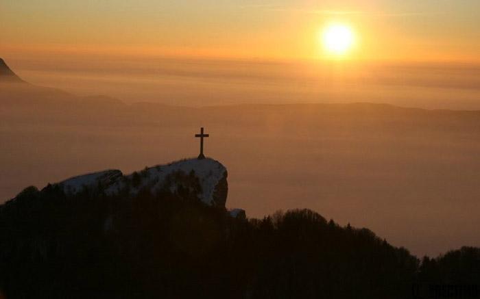 Vue aérienne de La Croix du Nivolet