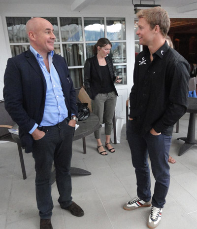 Johan Eliasch et Alexis Pinturault - © Alain Coppier - 123 Savoie