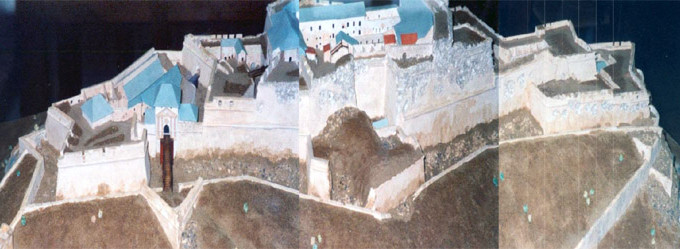 Maquette de la façade du fort © 123 Savoie - Photo : Daniel Bouvier-Belleville