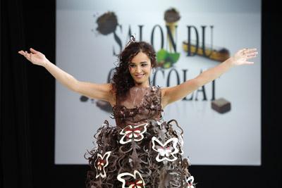 Aïda Touihri , Salon du chocolat 2013 à Paris - © Raffoux