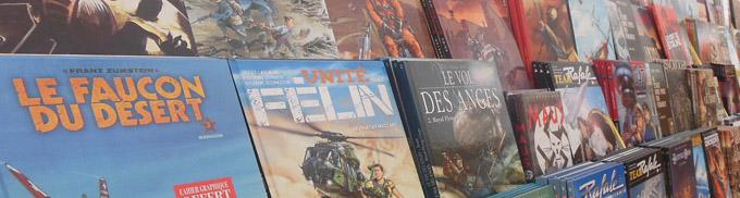 Livres au Festival de la BD