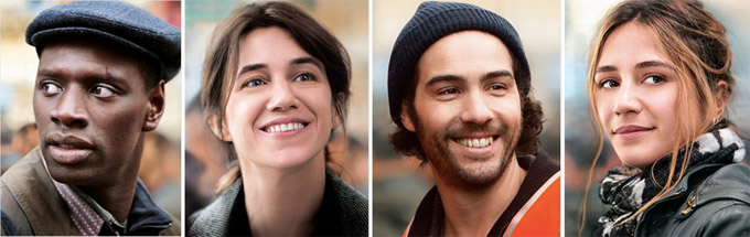 Omar Sy, Charlotte Gainsbourg, Tahar Rahim et Izïa Higelin - © Gaumont