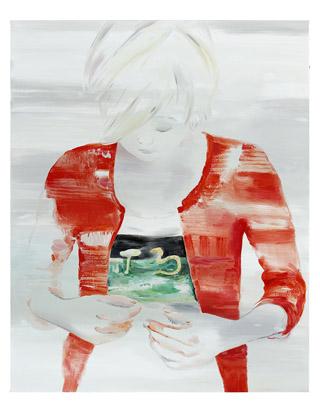 Paysage à l'estomac, 2013 - Huile sur toile, 162 x 130 cm - Collection de l'artiste