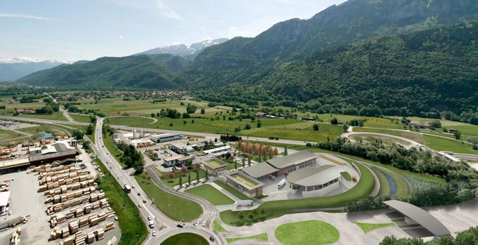 Futur centre d'entretien et PC autoroutiers HQE pour ATMB à Bonneville