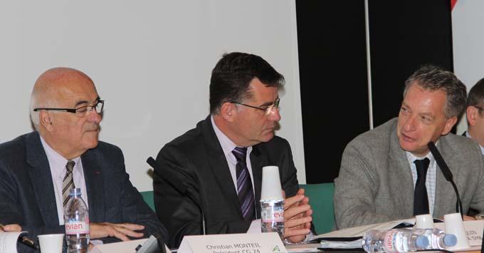 Christian Monteil, Patrice Jacquin et Hervé Gaymard