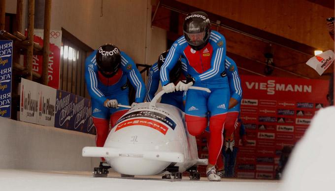 Coupe du monde bob à 4 hommes - Equipage Alexander Zubkov - © Rodrigue Mériaux