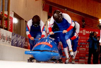 Coupe du monde bob à 4 hommes - Equipage français de Loïc Costerg - © Rodrigue Mériaux