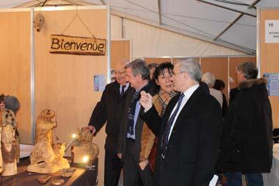 Jean-Pierre Vial, Xavier Dullin, Monique Marchal et Michel Dantin lors de l'inauguration