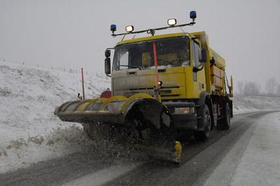 Salage et déneigement sur l'autoroute - © ATMB