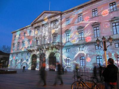 Son et lumière sur la façade de la Mairie d'Annecy - © Sergio Palumbo - 123 Savoie