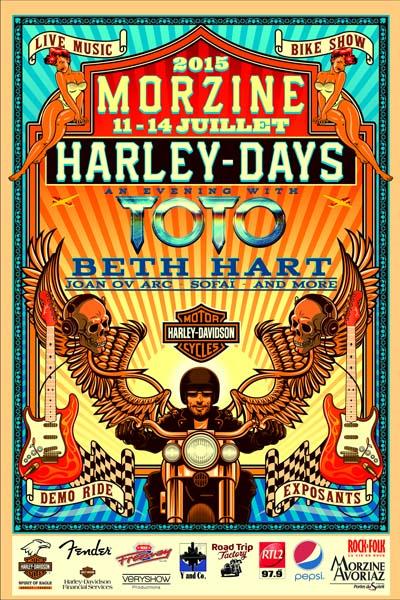 Affiche Les Morzine Harley Days
