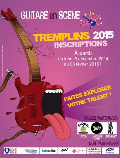 Affiche Tremplin Guitare en Scène