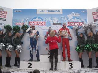 Trophée Andros Electrique ERDF à Val Thorens le 7 décembre 2014 - Remise des prix