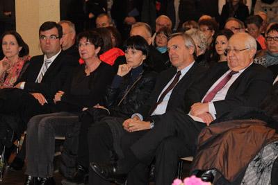 De droite à gauche : Jean-Pierre Vial, Dominique Dord, Nicole Guilhaudin