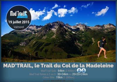 Mad'Trail, le Trail du Col de la Madeleine