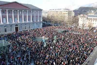 Marche silencieuse 11 janvier 2015 - 1 - © Sergio Palumbo - 123 Savoie