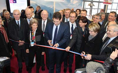 Matthias Fekl et les élus, inauguration du Salon Grand Ski 2015 - © Sergio Palumbo - 123 Savoie