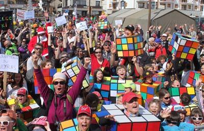 Foule Rubby Cube - La 1000 Pattes à Montgenèvre
