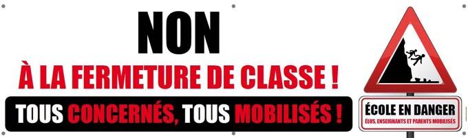 Non à la fermeture de classe à Bessans