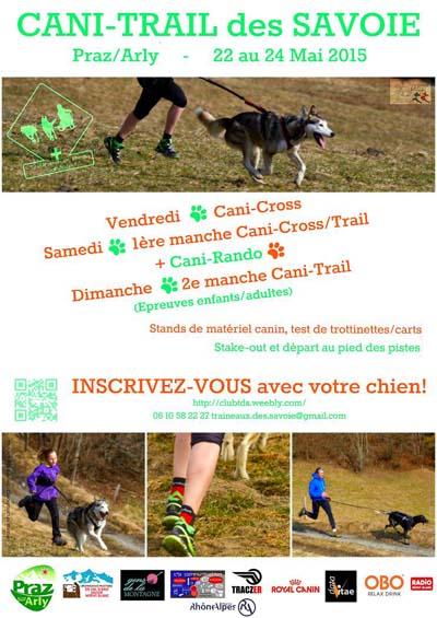 Affiche Cani-trail des Savoie