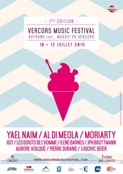 Affiche Vercors Music Festival 2015
