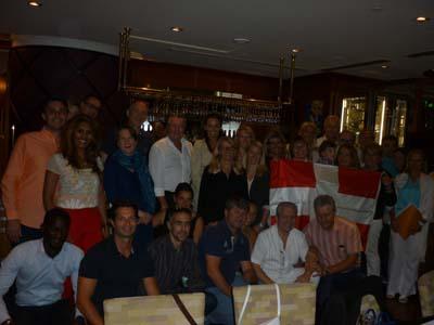 Les savoyards des Emirats après le diner des diots made in Dubaï