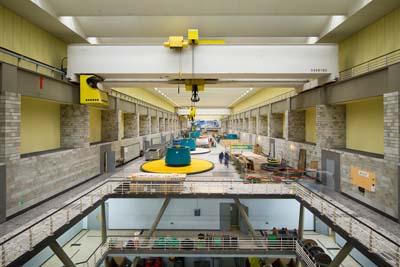 Salle des machines de la centrale de la Bâthie - © Omexom - Xavier Boymond
