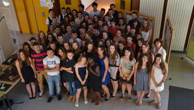 élèves de 3ème du collège Jean Mermoz de Barby - © Sergio Palumbo - 123 Savoie
