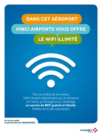 Affiche WiFi gratuit et illimité à l'aéroport Chambéry Savoie