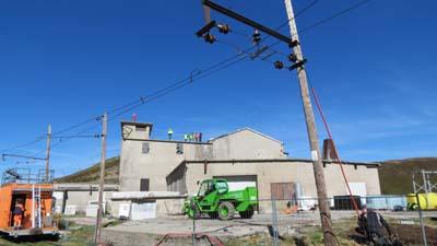 Démolition de l'ancienne soufflerie militaire Mont-Lachat