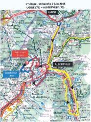 Etape 1 - Critérium du Dauphiné Libéré, prévisions de circulation