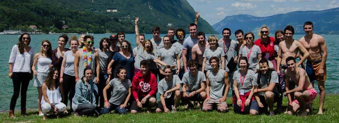L'équipe organisatrice du Challenge SGM de l'IUT de Chambéry, étudiants, enseignants et personnels
