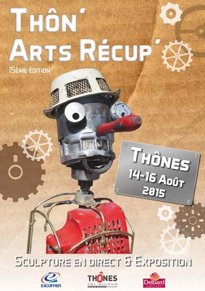 Affiche Festival Thôn'Arts Récup'