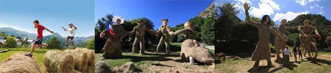 Concours de sculptures sur paille et foin à Valloires 1