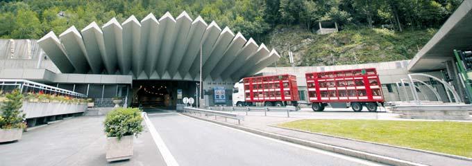 Entrée du Tunnel du Mont-Blanc côté France © GEIE