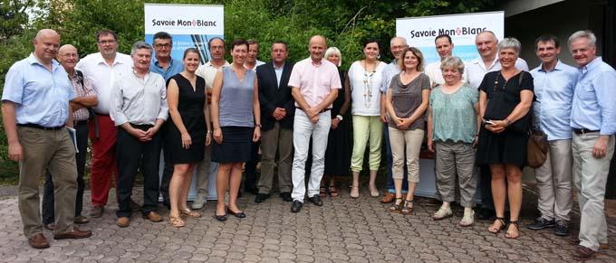 Les membres du bu bureau et de l'assemblée générale Savoie Mont Blanc Tourisme