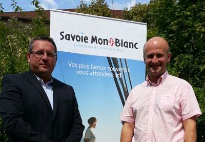 Nicolas Rubin et Vincent Rolland, les 2 co-présidents de Savoie Mont Blanc Tourisme