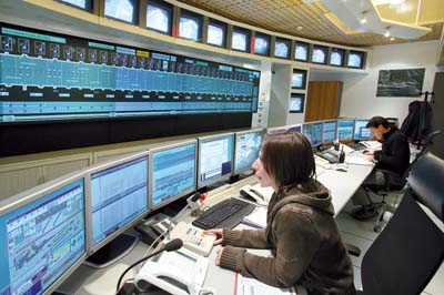 Poste central de contrôle des équipements du tunnel - © GEIE