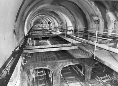 Tunnel du Mont-Blanc début des travaux d'équipement
